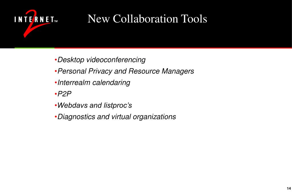 New Collaboration Tools