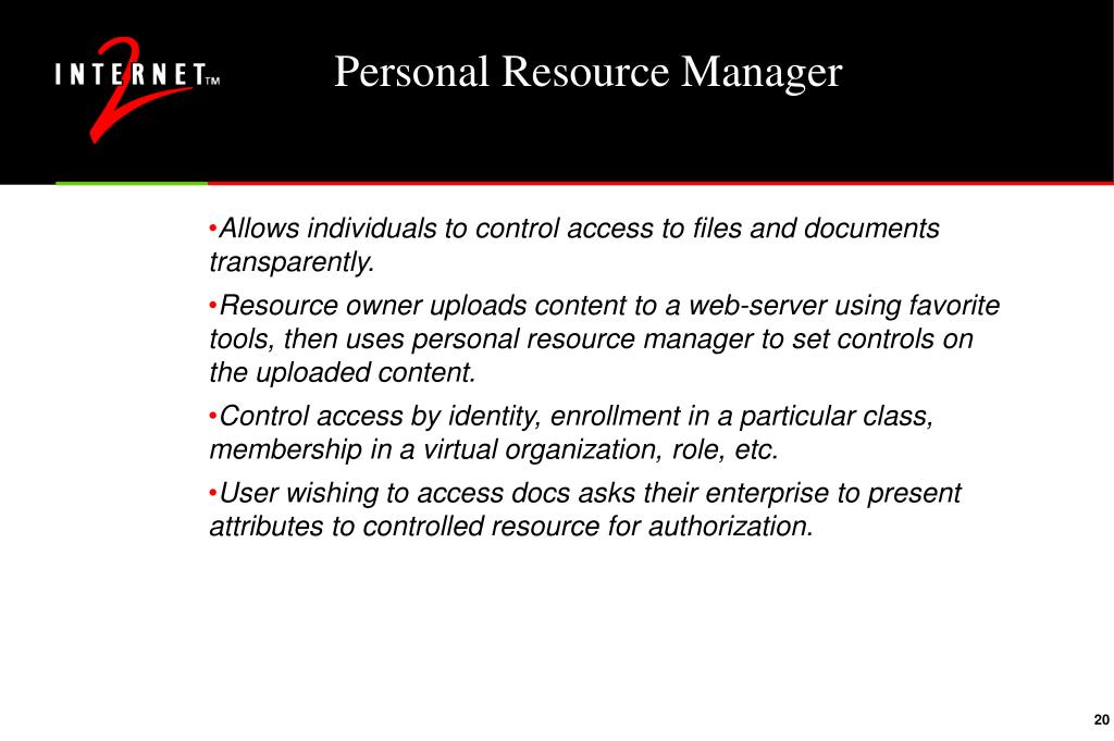 Personal Resource Manager