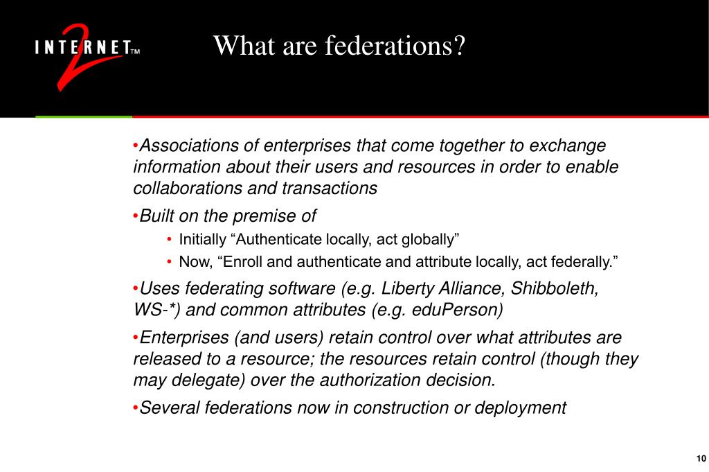 What are federations?