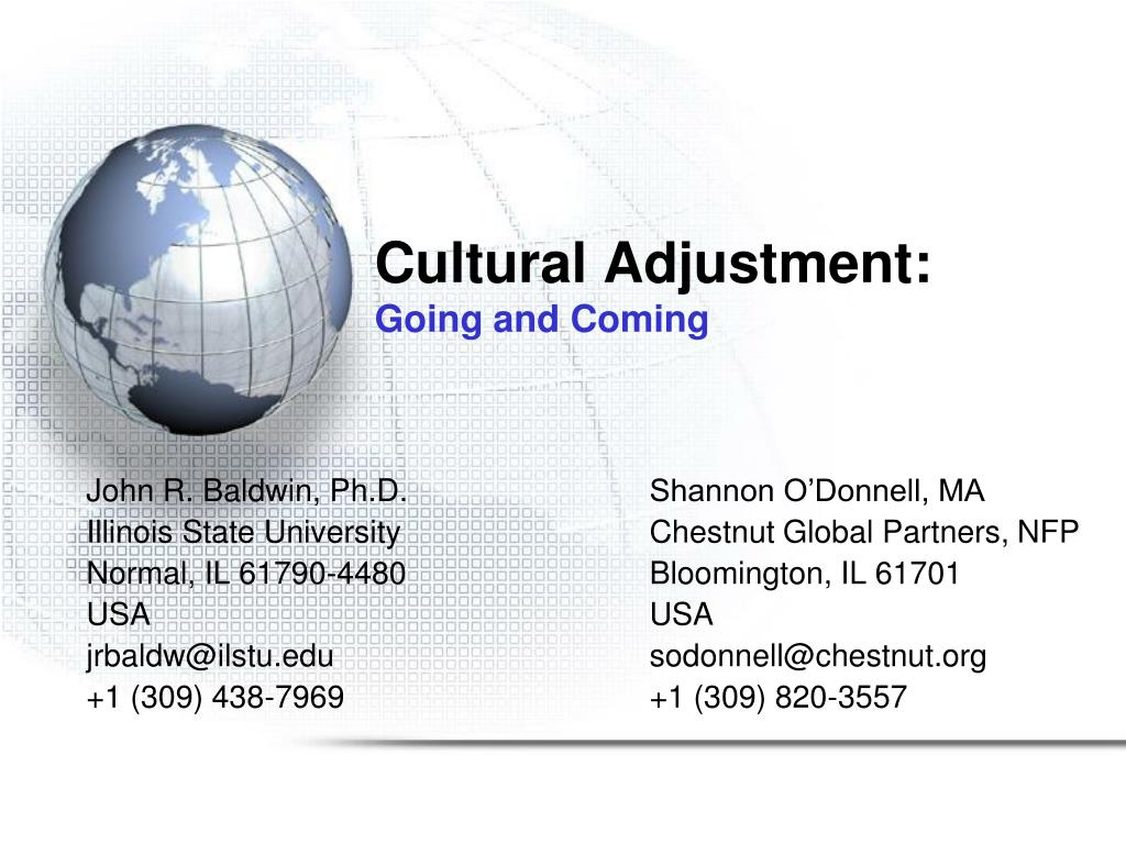 cultural adjustment going and coming l.