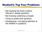 student s top four problems