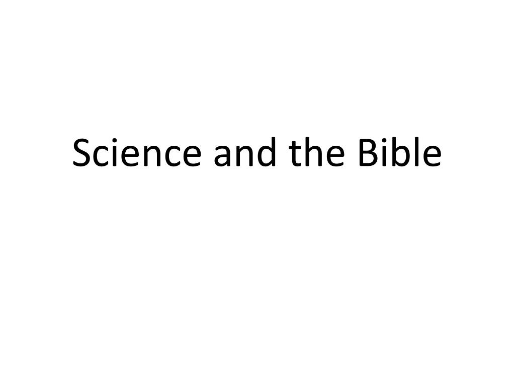 science and the bible l.