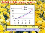 babar belle physics results