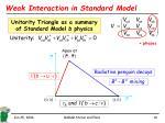 weak interaction in standard model