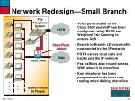 network redesign small branch