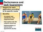 performance and qos guarantees