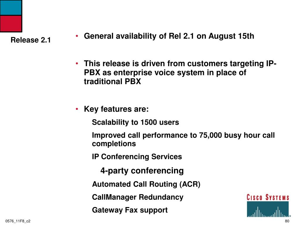 General availability of Rel 2.1 on August 15th