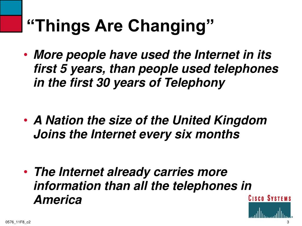 """Things Are Changing"""