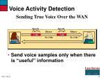 voice activity detection