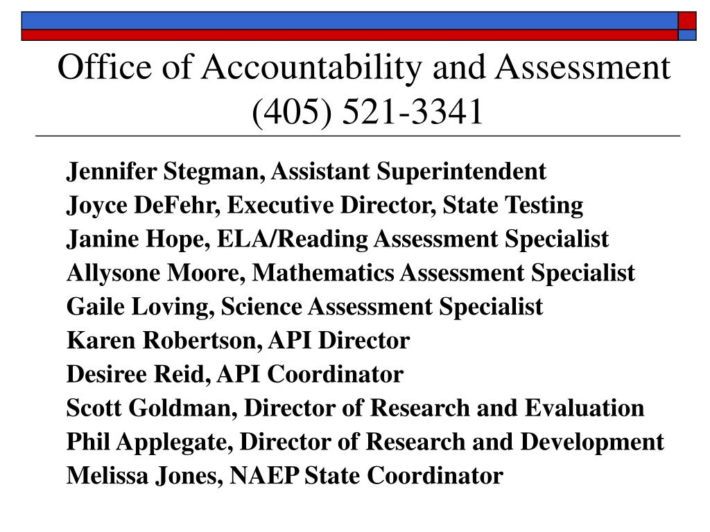 Office of Accountability and Assessment