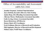 office of accountability and assessment 405 521 3341