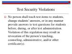 test security violations