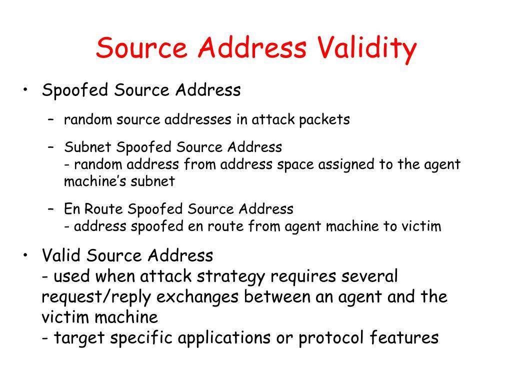 Source Address Validity