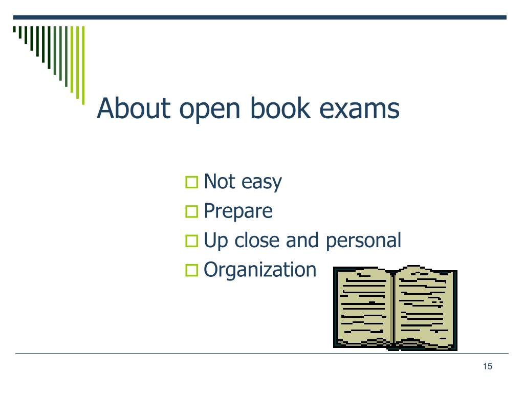 About open book exams