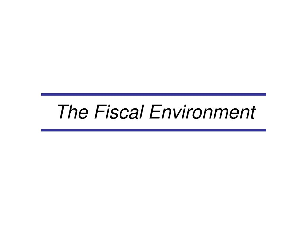 The Fiscal Environment