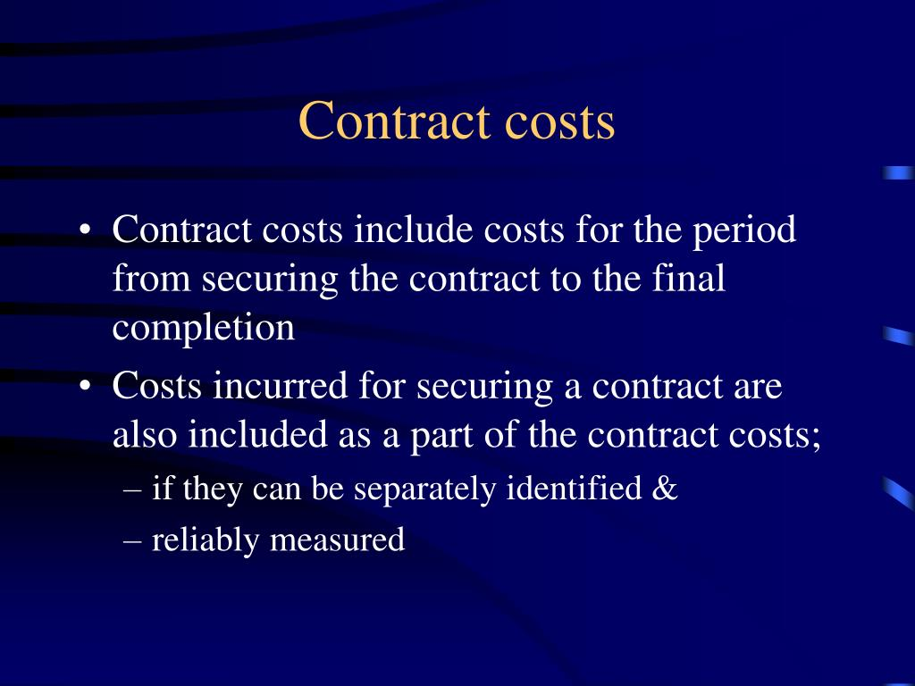 Contract costs