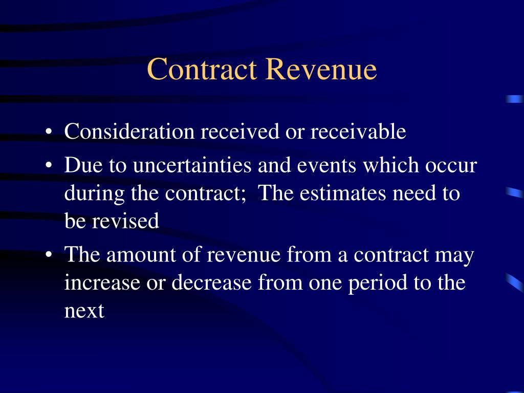 Contract Revenue