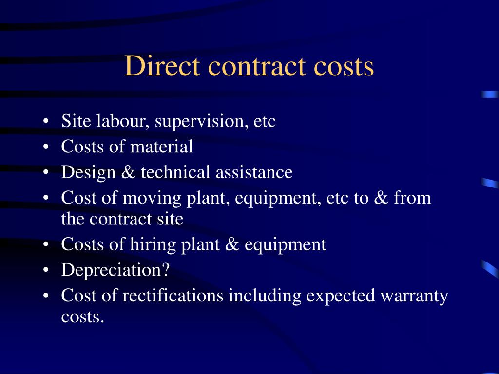 Direct contract costs