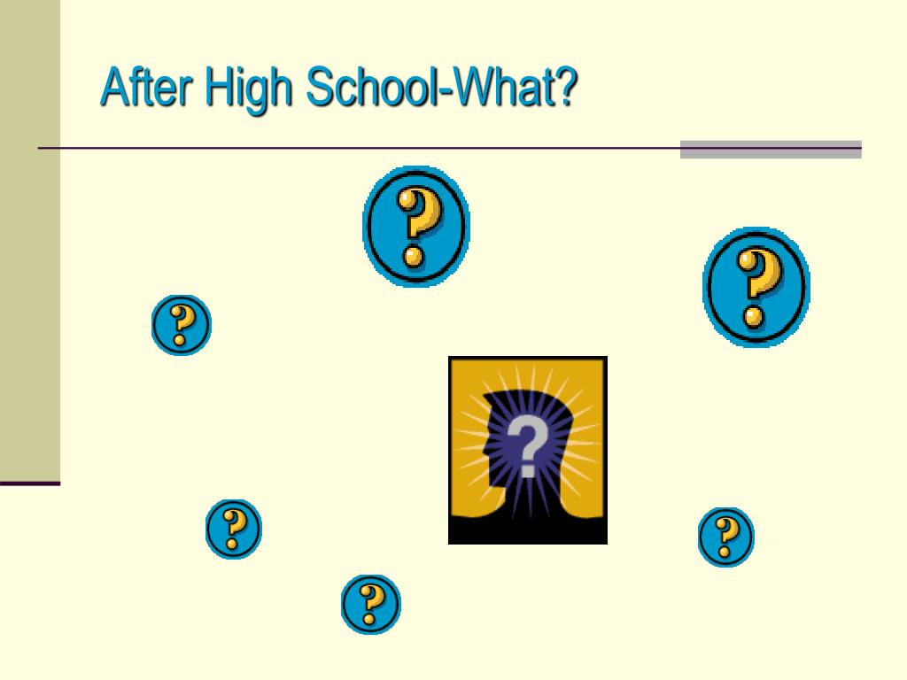 After High School-What?