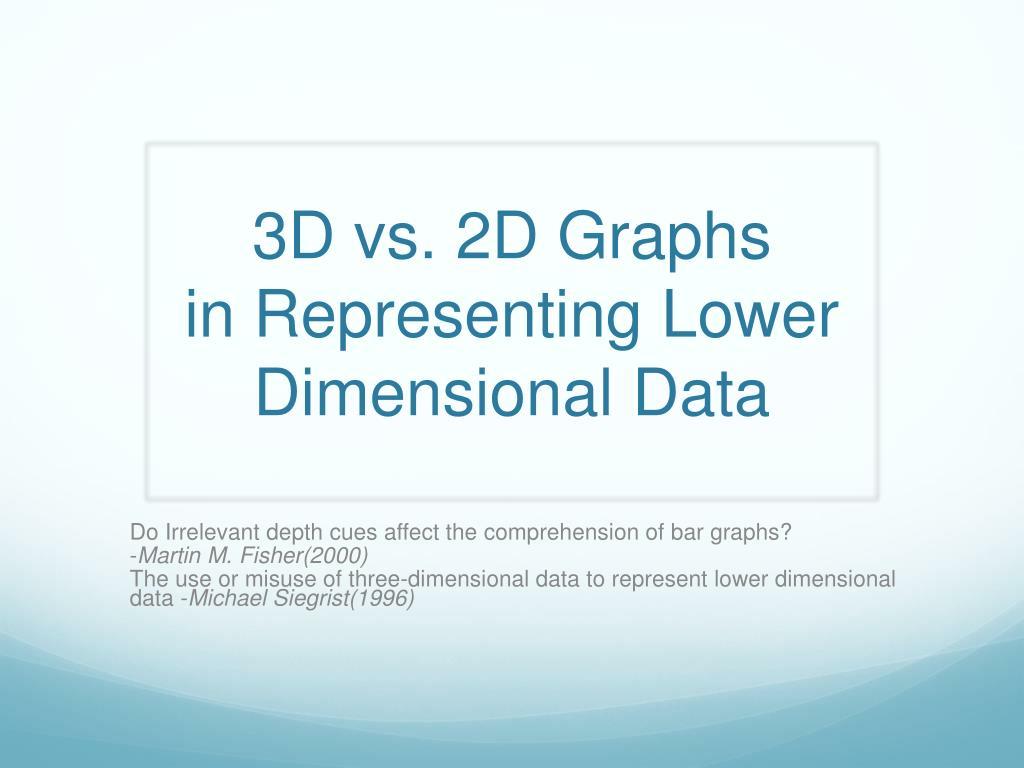 3d vs 2d graphs in representing lower dimensional data l.