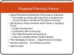 proposed planning process