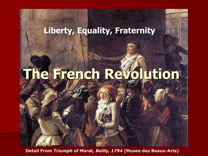 thesis on the french revolution