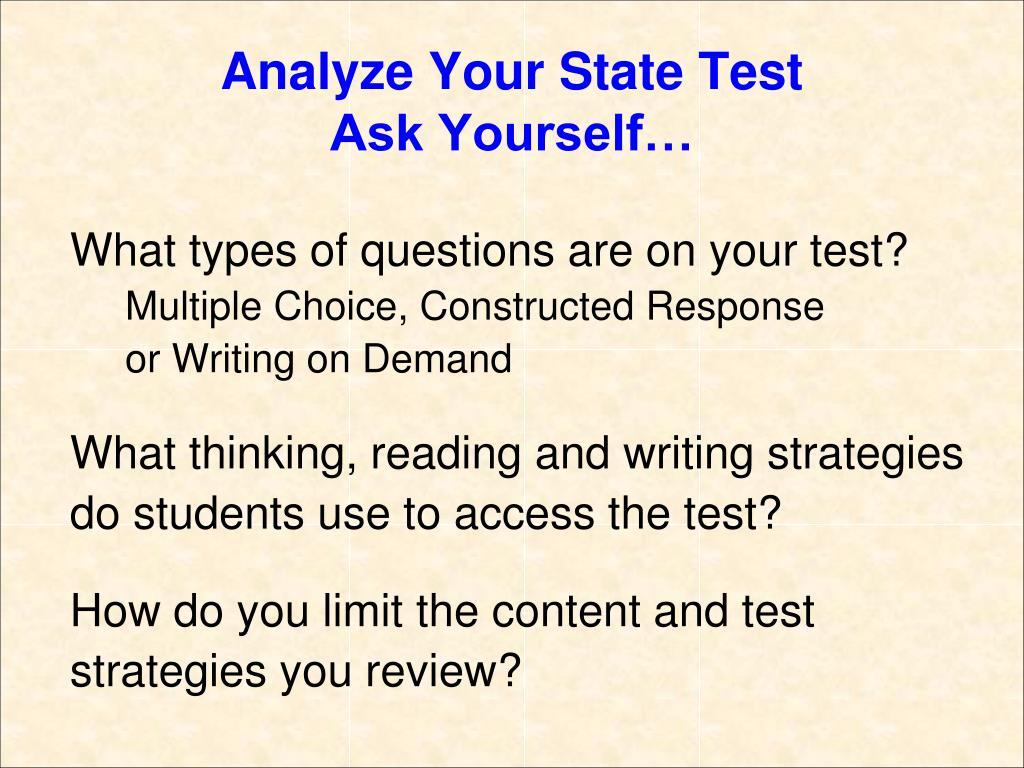 Analyze Your State Test