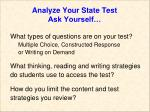 analyze your state test ask yourself