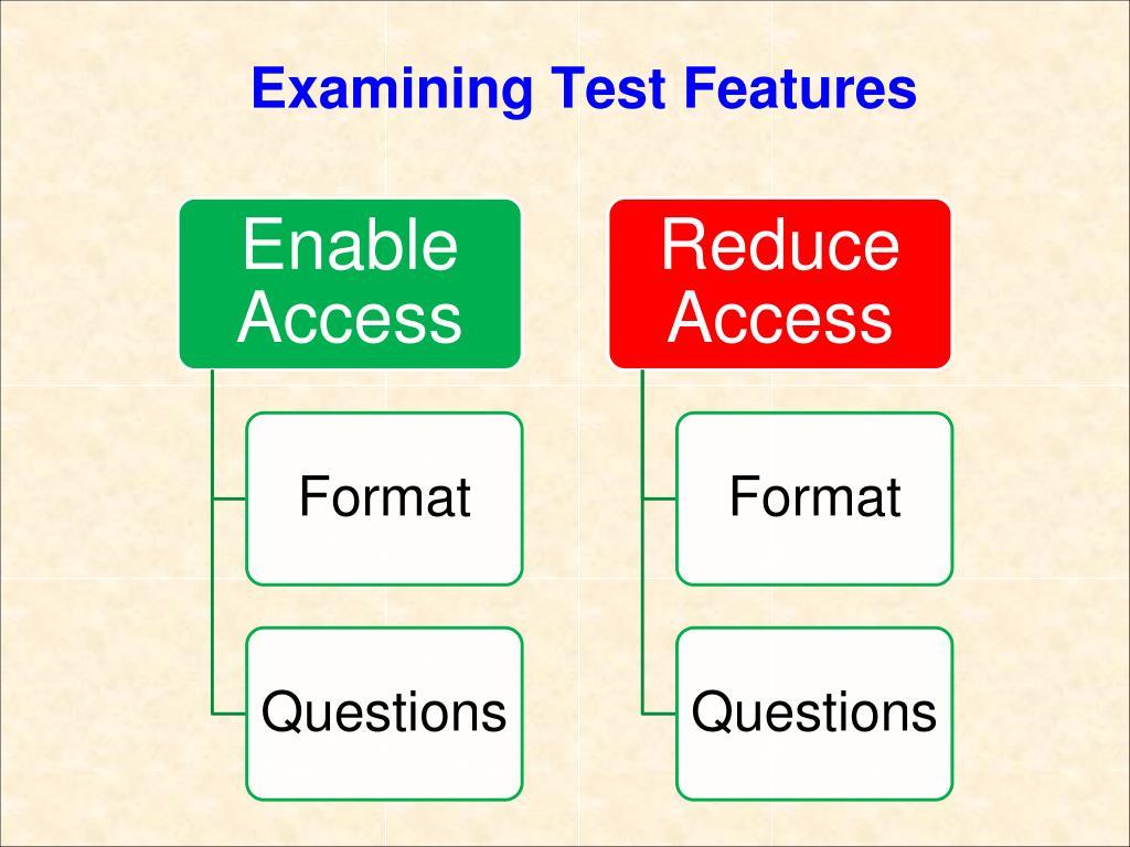 Examining Test Features