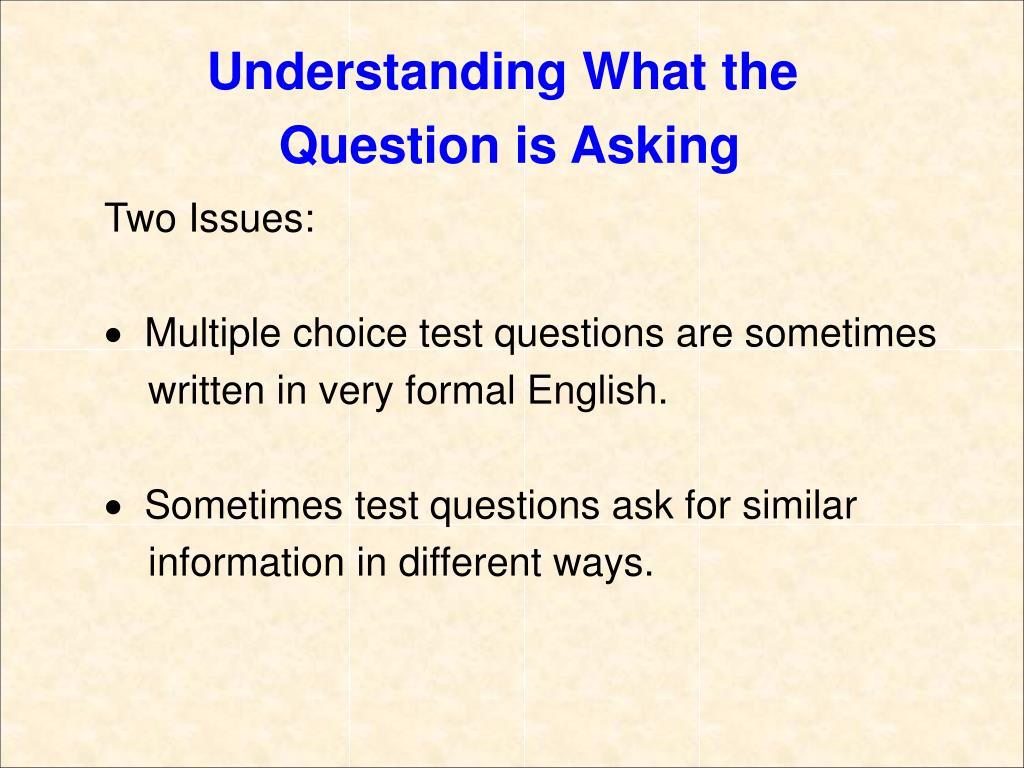 Understanding What the