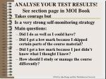 analyse your test results see section page in moi book