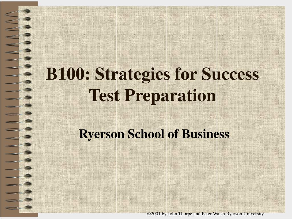 b100 strategies for success test preparation l.