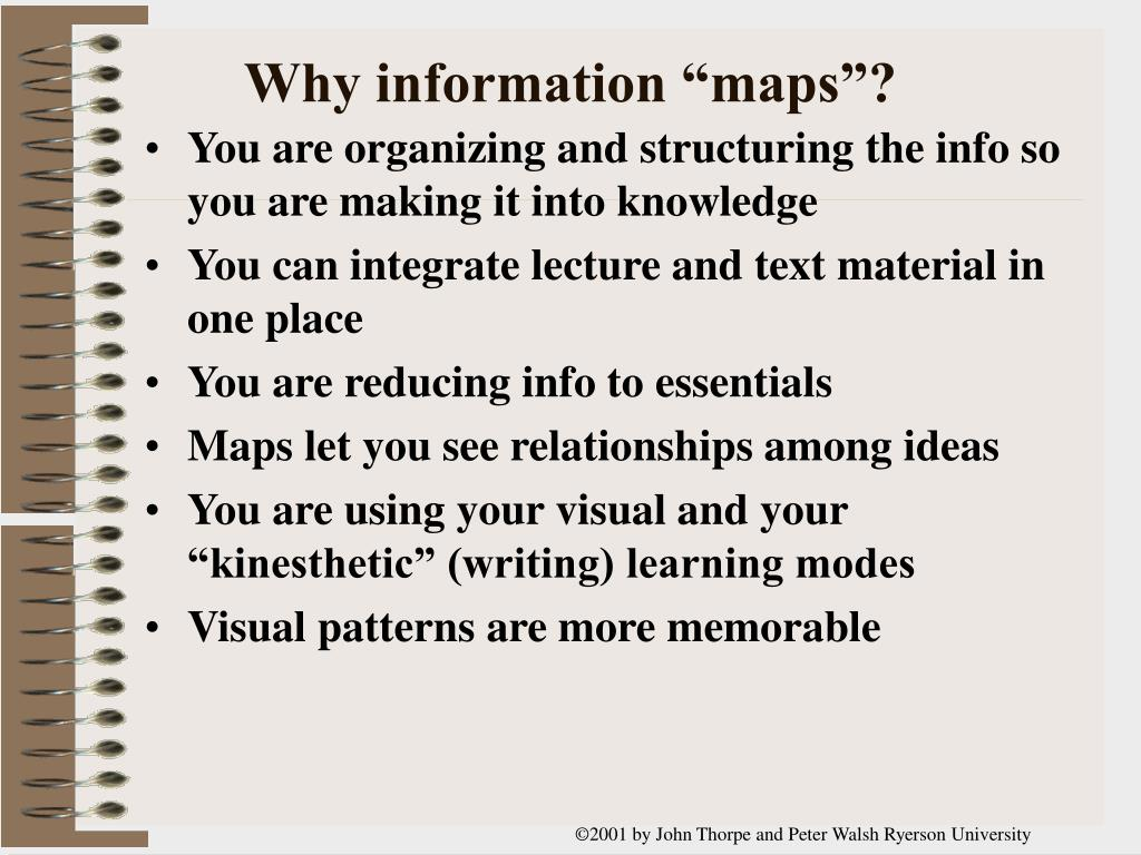 """Why information """"maps""""?"""
