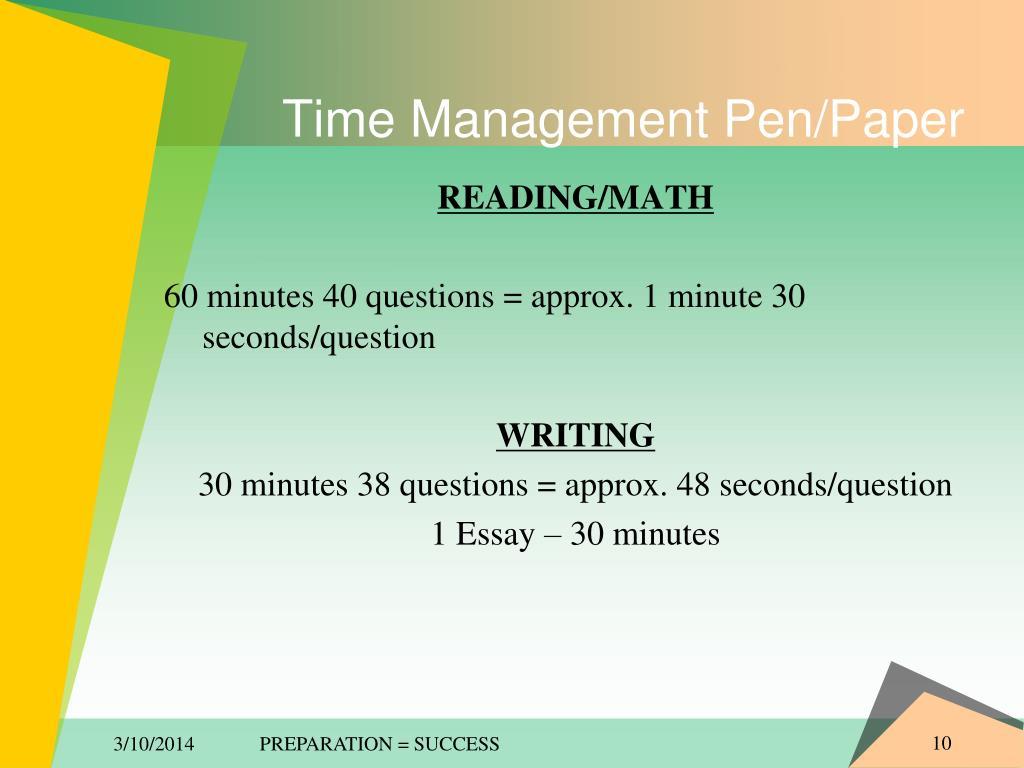 Time Management Pen/Paper