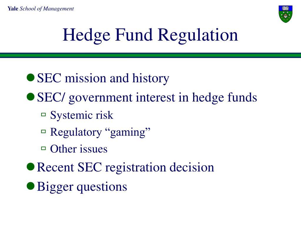 hedge fund regulation l.