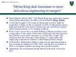 mylan king deal forerunner to more derivatives engineering in mergers