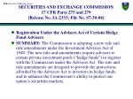 securities and exchange commission 17 cfr parts 275 and 279 release no ia 2333 file no s7 30 04