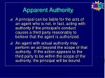 apparent authority