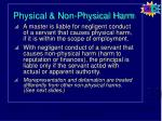physical non physical harm