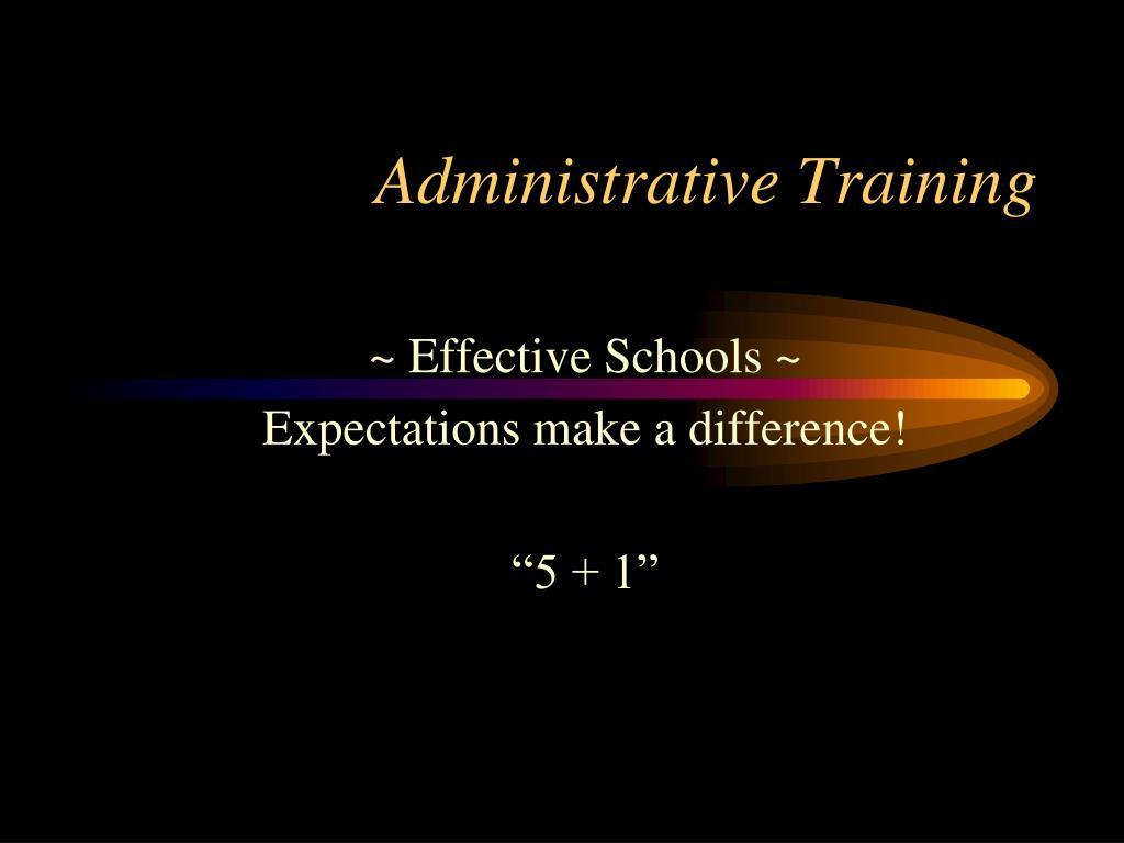 Administrative Training