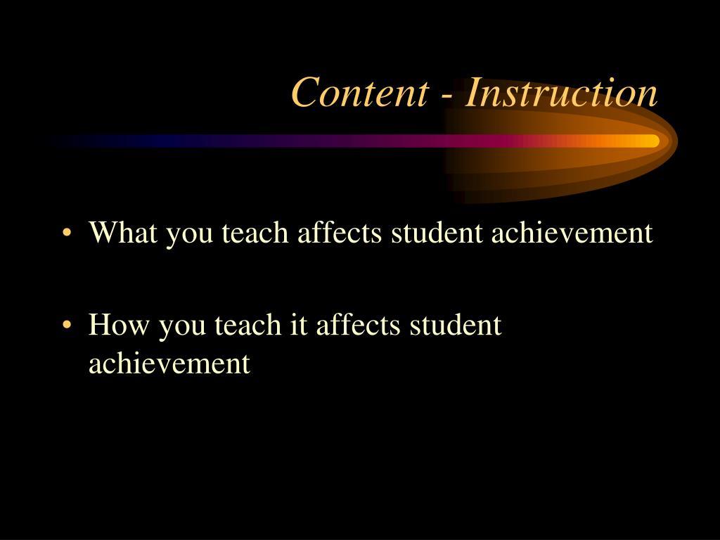 Content - Instruction