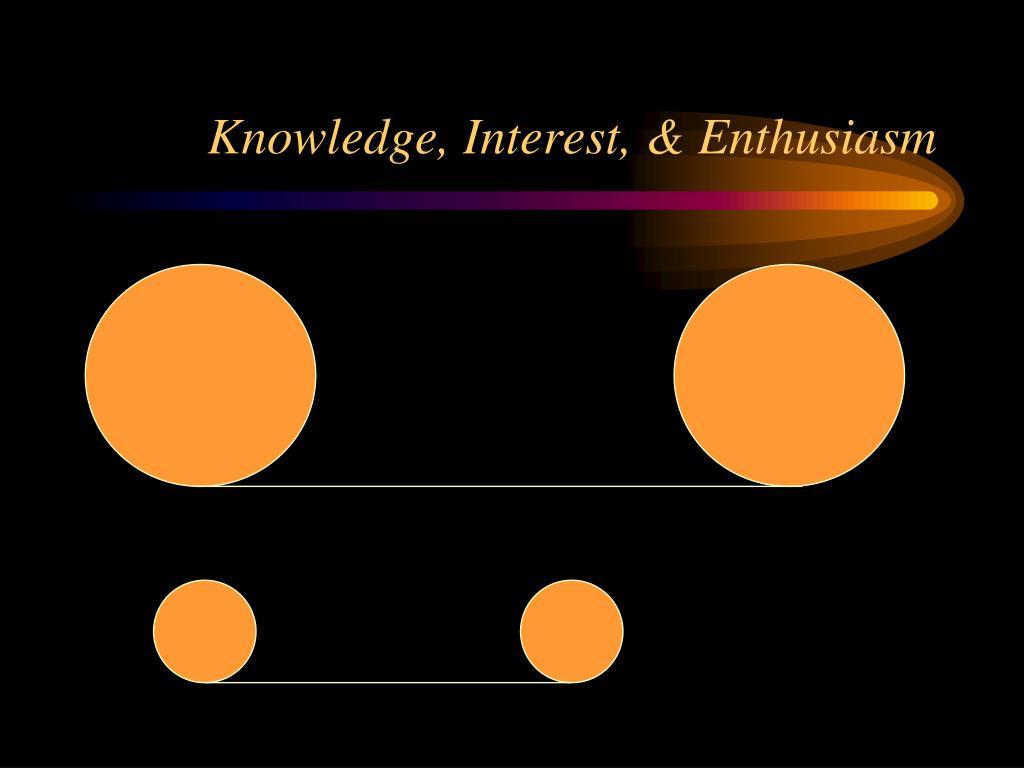 Knowledge, Interest, & Enthusiasm