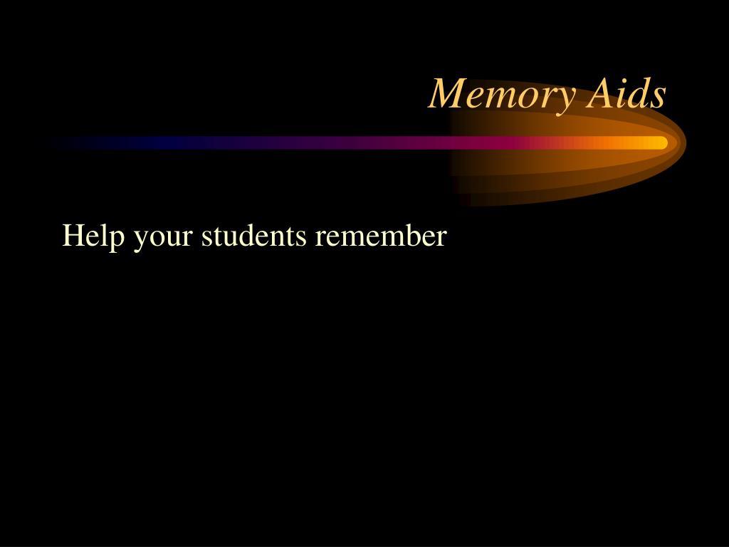 Memory Aids