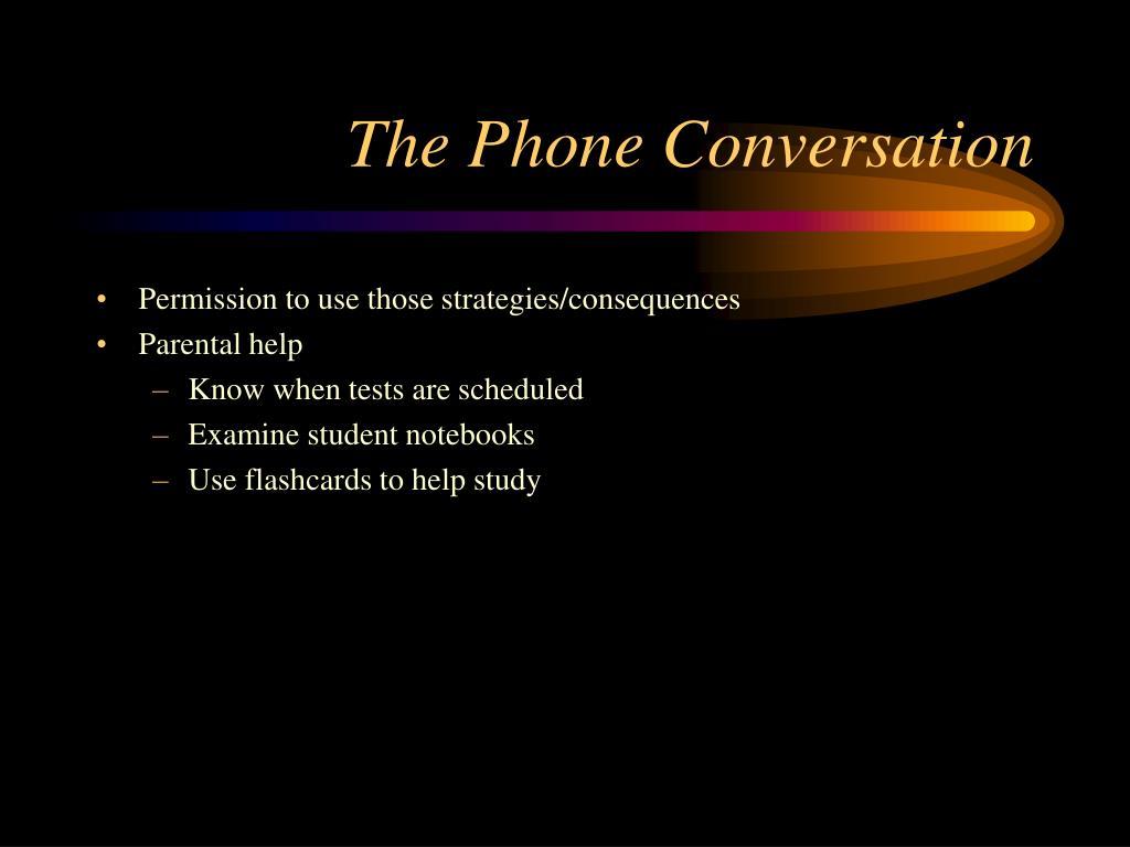 The Phone Conversation