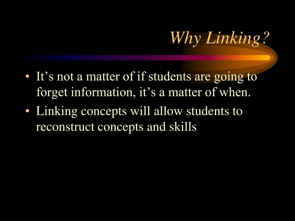 Why Linking?