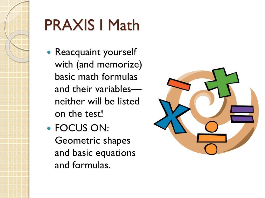 PRAXIS I Math