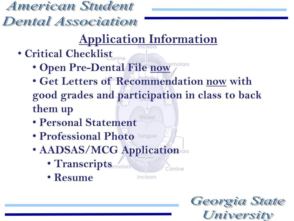 Application Information