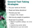 general test taking strategies