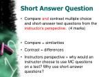 short answer question22