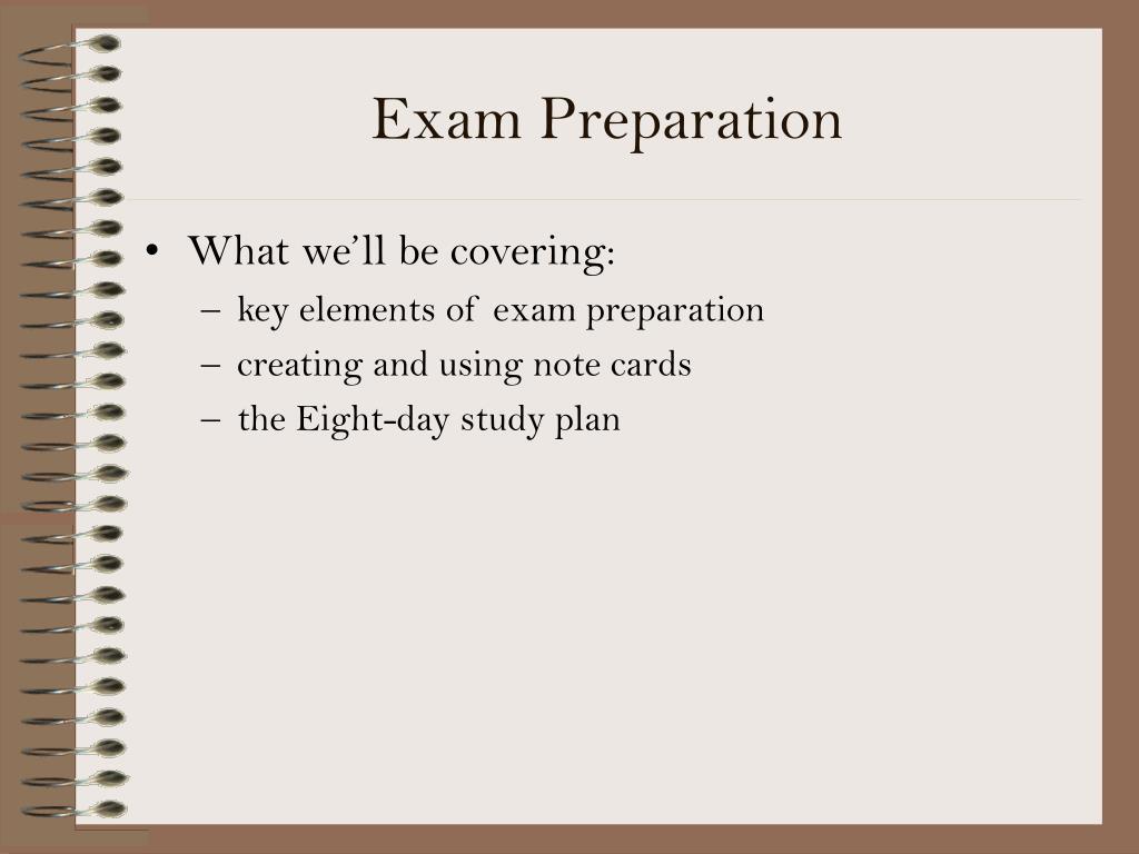 exam preparation l.